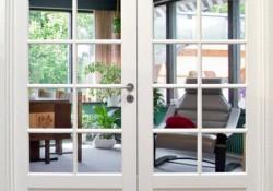 Glasdøre giver et godt flow i dit hjem